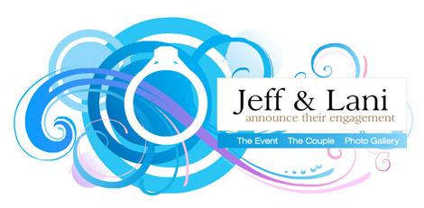 Lani & Jeff - Wedding site welcome page.