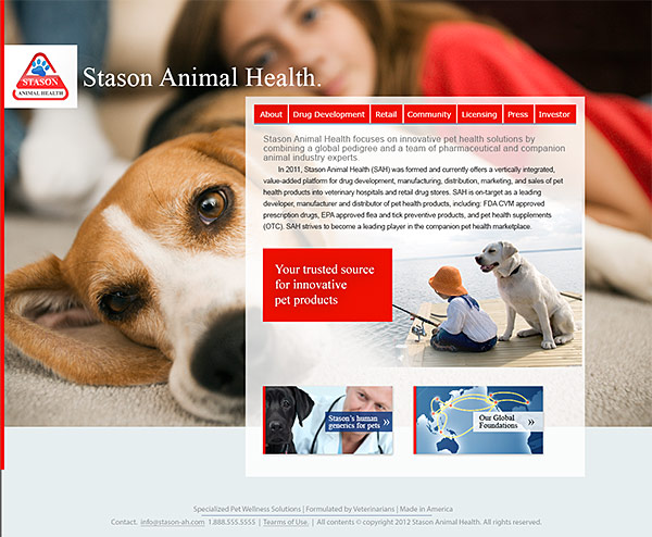 Stason Animal Health Home Page